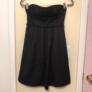 BCBG black strapless mini dress